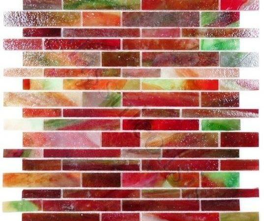 Red Brick Victorian Glossy Glass Backsplash Cultivate