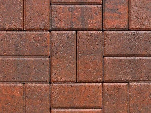 Red Coping Pool Deck Paver Designs Basket Weave Brick Pattern