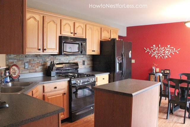 Red Kitchen Walls Accent Sara Design Dilemma Young House