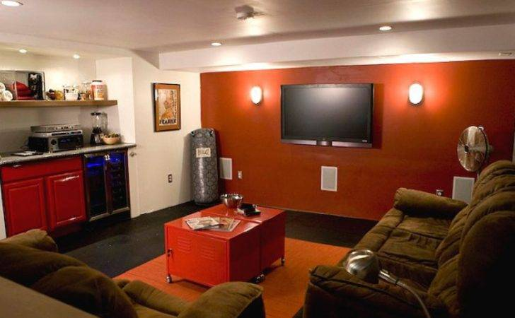 Red Living Room Wall Paint Ideas Endearing Man Cave