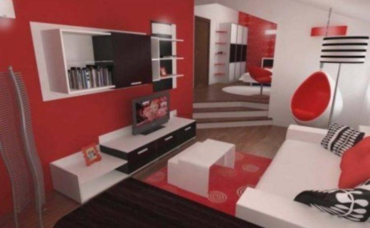 Red White Black Bedroom Perfect Inspiring Contemporary