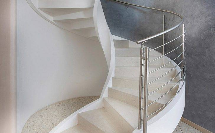Refined Contemporary Design Self Supporting Spiral Staircases