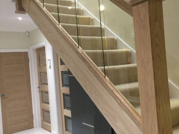 Reflections Glass Oak Balustrade Refurbishment Kit Staircase