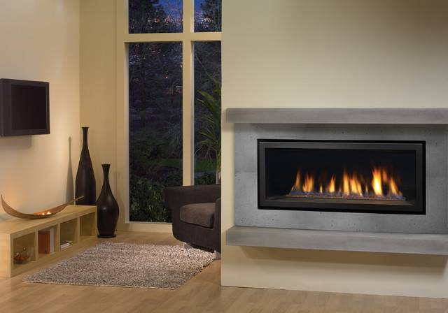 Regency Horizon Modern Gas Fireplace Contemporary Living Room