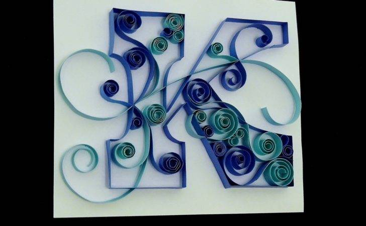 Release Creations Diy Tuesday Quilled Monogram Letter