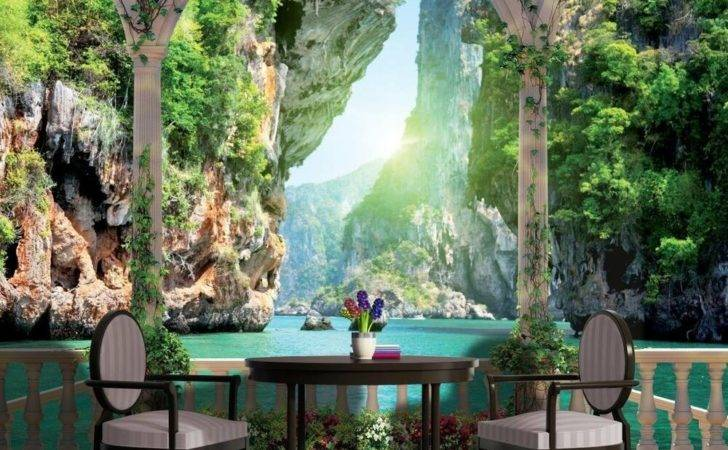 Removable Sticky Mural Sea Arches Ebay