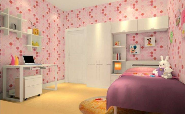 Rendering Little Girl Bedroom Pink
