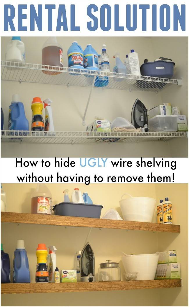 Rental Solution Hide Wire Shelving