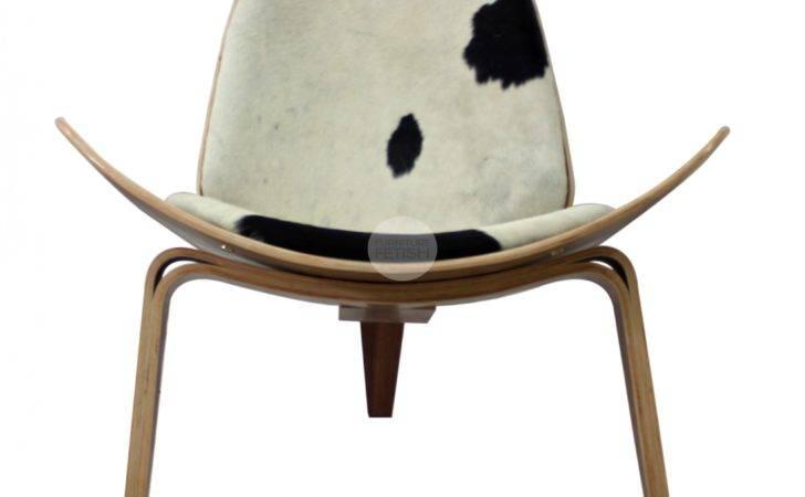 Replica Hans Wegner Shell Chair Premium Pony Skin Cushions Furniture