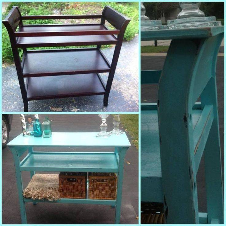 Repurpose Baby Crib Changing Table Pinterest