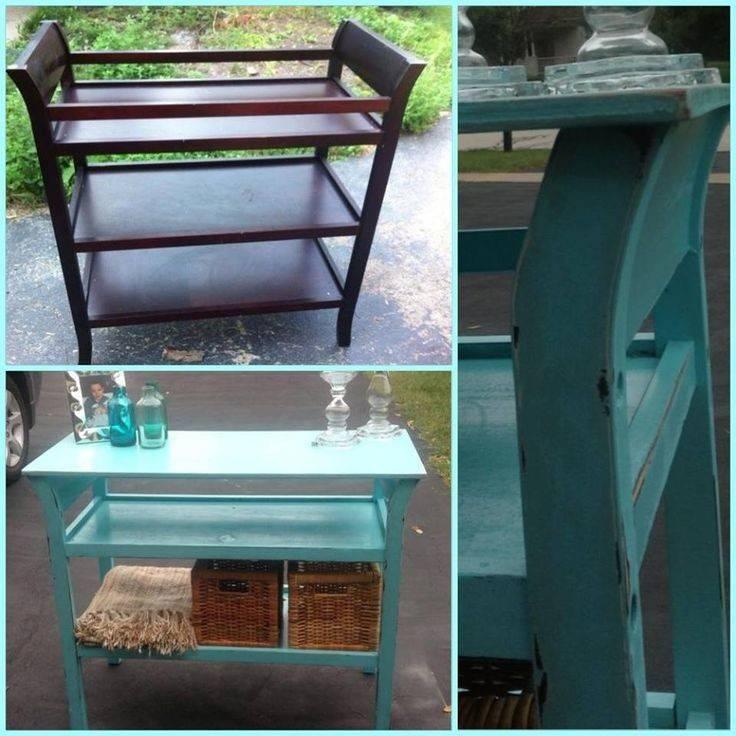 Repurpose Baby Crib Changing Table Pinterest