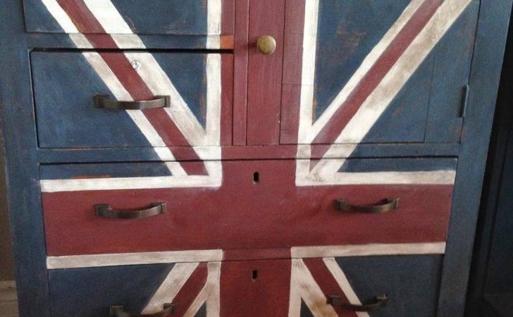 Repurposed Gems Union Jack Dresser