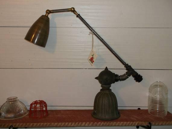 Repurposed Industrial Table Lamp Vintage Lighting Bradandres