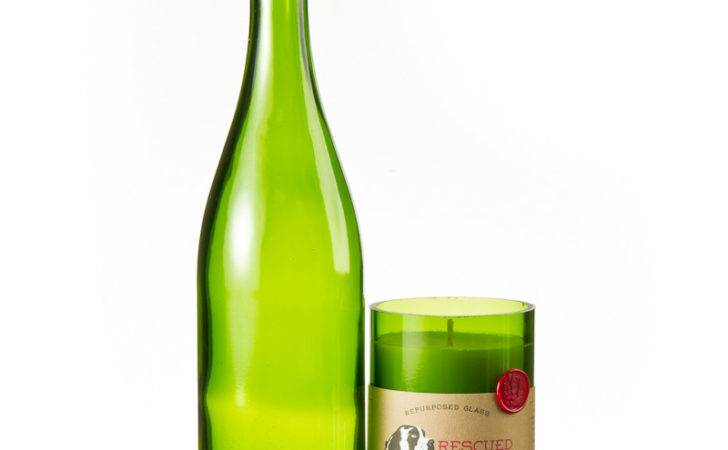 Rescued Wine Candles All Natural Soy Bottle