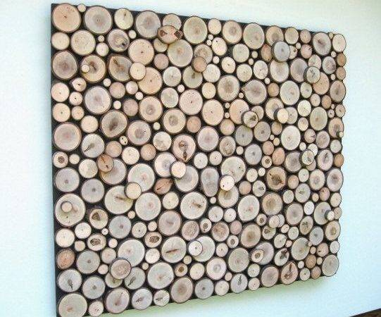 Resereved Jim Abstract Art Wood Slice Rustic Wall