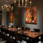 Reserved Dining Area Incorporates More Intimate Color Scheme