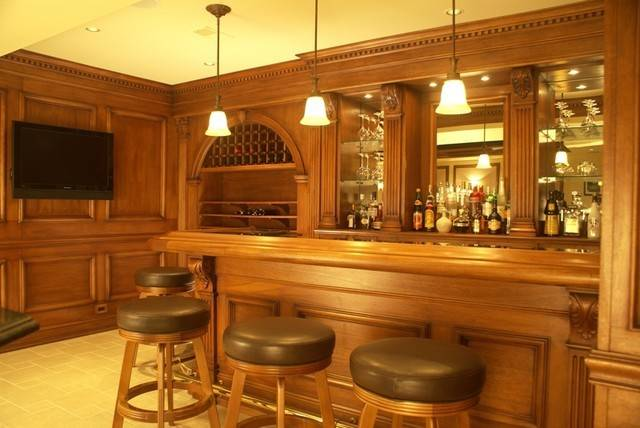 Residential Bar Traditional Home Ideas