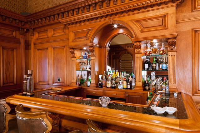 Residential Bar Traditional Room New York