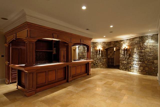 Residential Bars Traditional Basement Metro Platinum