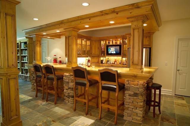 Residential Bars Traditional Kitchen Newark Platinum