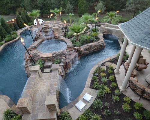 Residential Lazy River Ideas Remodel Decor