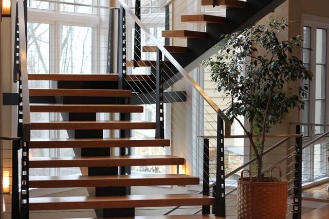 Residential Staircase Modern Philadelphia Dibello
