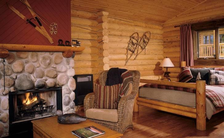 Resort Log Cabin Interior Photograph Robert Pisano Which