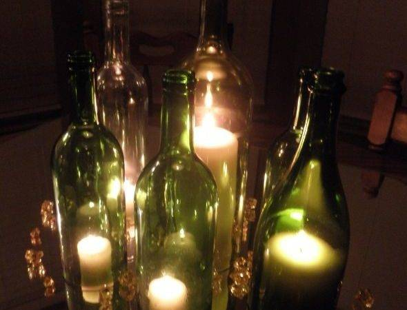 Resource Diy Wedding Project Wine Bottle Candle Holder Centerpieces
