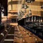 Restaurant Interior Decorating Golden Color Scheme Interiorzine