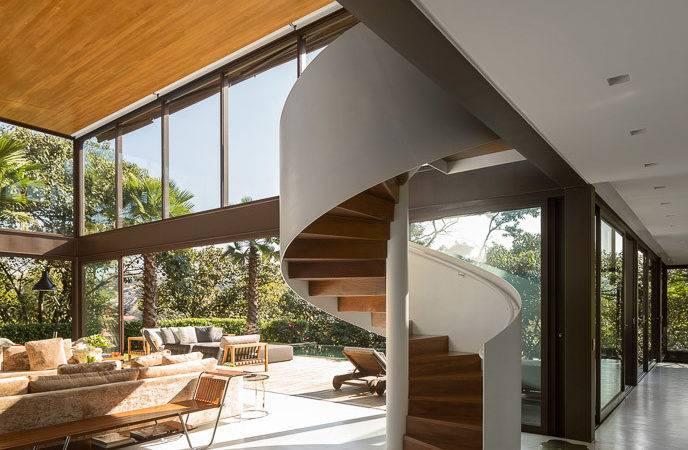 Retro Modern Design Spiral Staircase Freshome