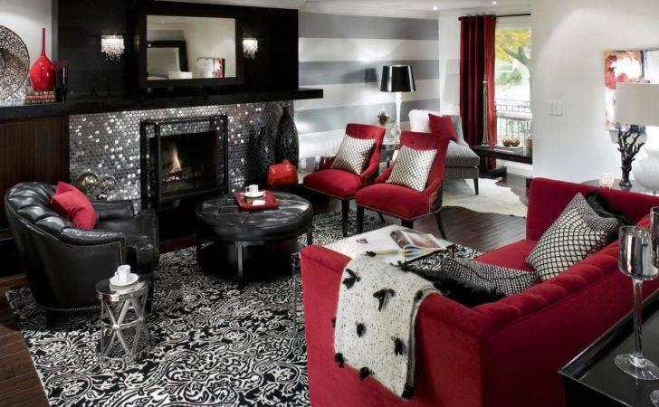 Retro Red Black White Room Hgtv
