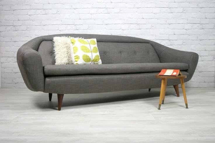 Retro Vintage Midcentury Teak Danish Style Sofa Eames Era