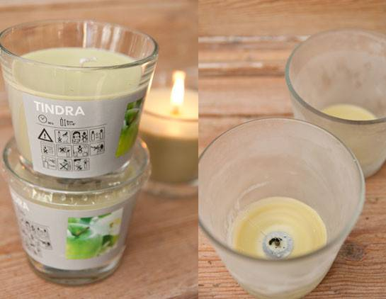 Reusetindra Candle Glass Containers Ikea Hackers