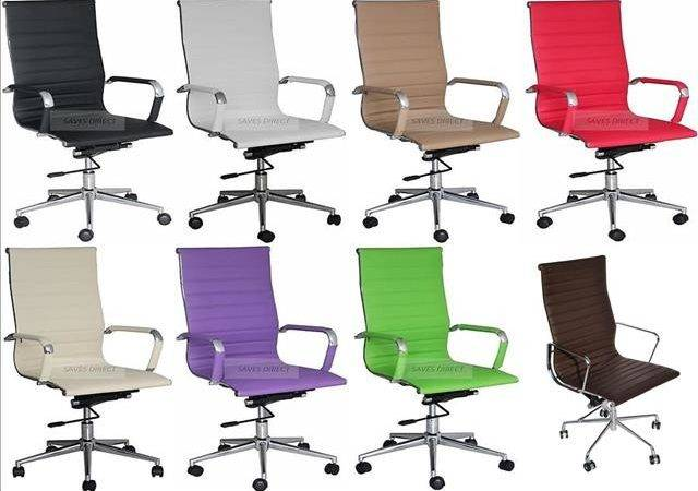 Ribbed Designer Executive Leather Office Chair Computer Furnitur