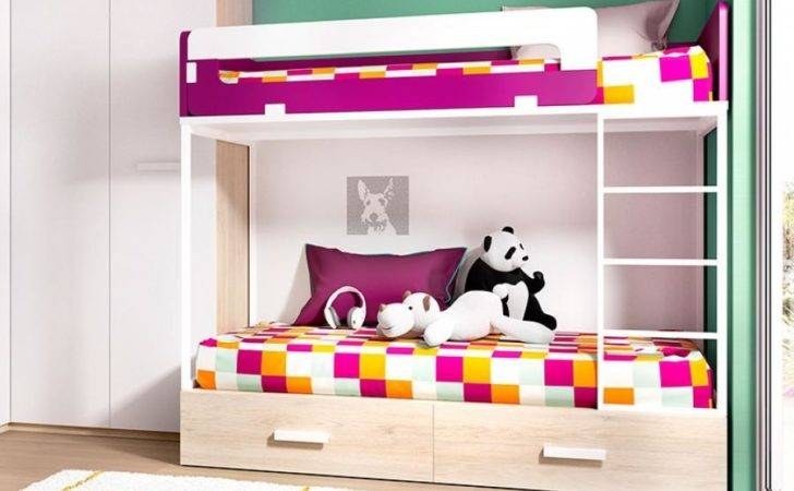 Rimobel Childrens Contemporary Bunk Bed Drawers Various
