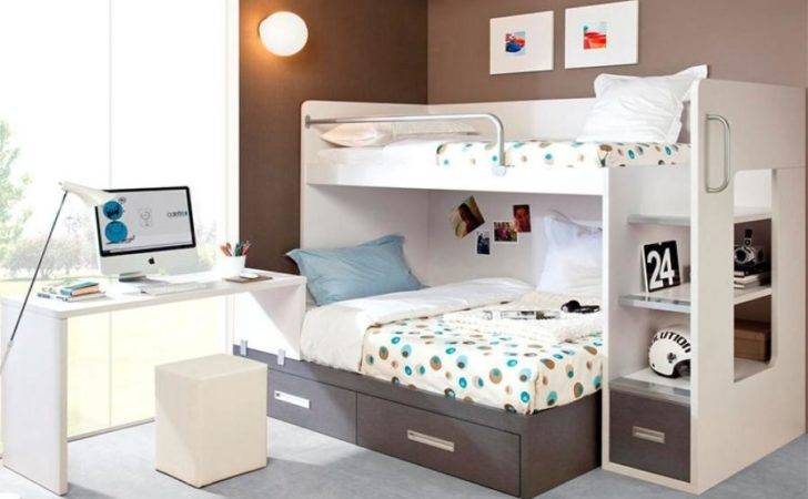 Rimobel Modern Bunk Bed Double Desk Many Colours
