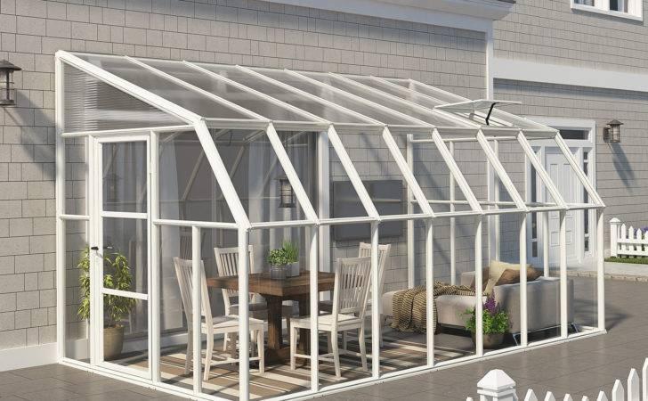 Rion Sunroom Kit Clear Acrylic Panels Canada Greenhouse Kits