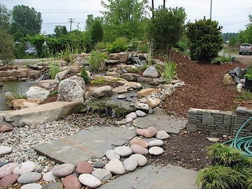 River Rock Landscape Design Ideas