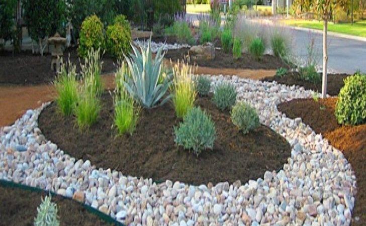 River Rock Landscaping Edging Ideas Interior Designs