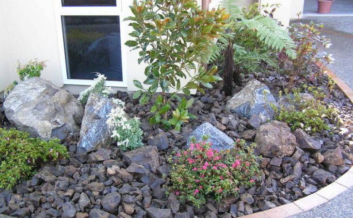 River Rocks Landscape Also Rock Design Ideas
