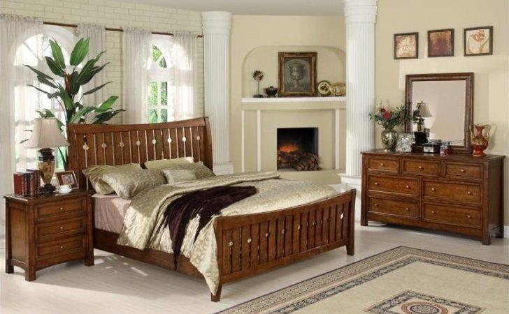 Riverside Craftsman Home Piece Queen Bedroom Set Americana Oak
