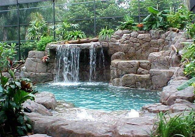 Rock Waterfall Pool