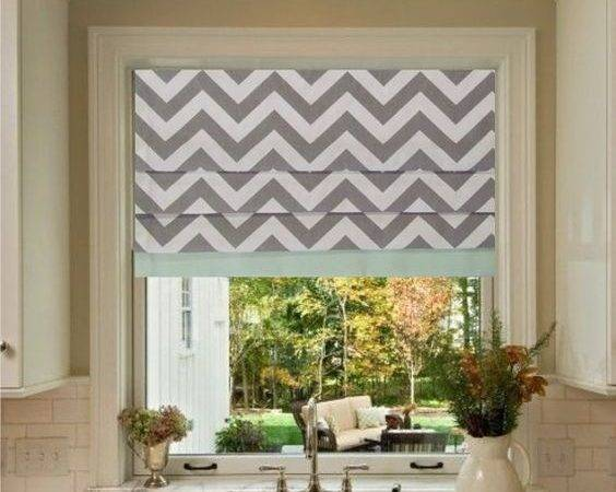 Roman Mint Shades Grey Chevron Nooks Blinds Breakfast