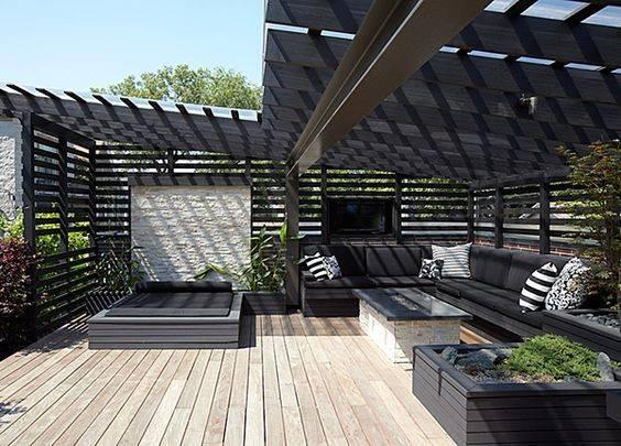 Rooftop Patio Modern House Chicago Ranquist Development