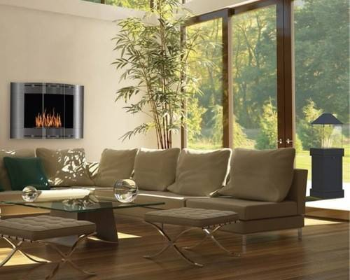 Room Design Ideas Remodels Photos Hanging Fireplace Houzz