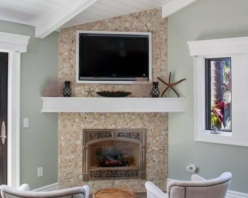 Room Design Ideas Renovations Photos Hanging Fireplace
