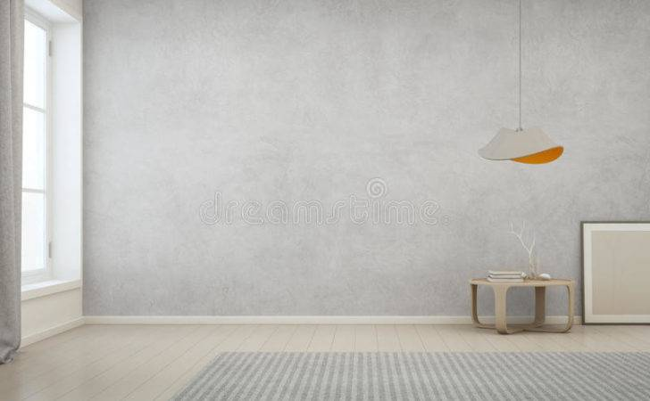 Room Empty Concrete Wall Modern House