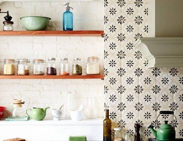 Room Just Uses Patterned Tile Behind Range Which Love
