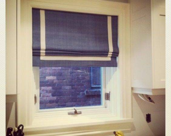 Room Kitchen Roman Shades Window Pinterest
