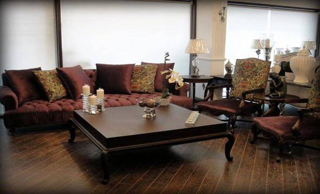 Room Living Sofa Set Center Table
